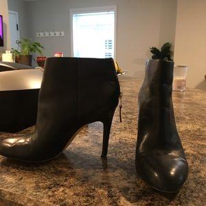 Used Sam Edelman black leather booties, 7.5